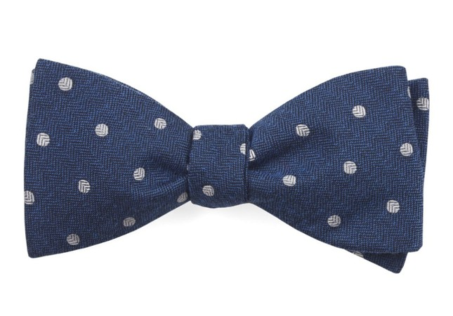 Dotted Hitch Classic Blue Bow Tie