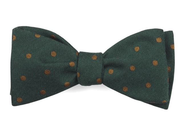 Dotted Hitch Hunter Green Bow Tie