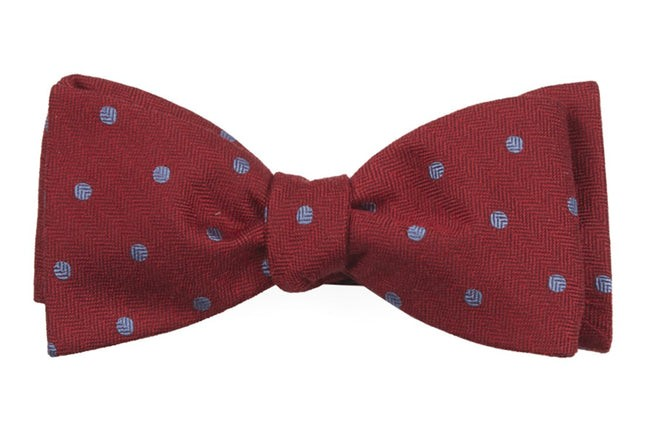 Dotted Hitch Red Bow Tie