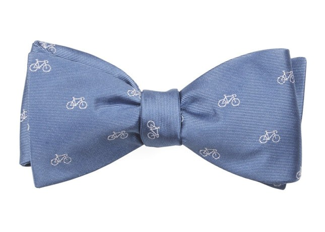 Two-Wheeler Bicycle Slate Blue Bow Tie