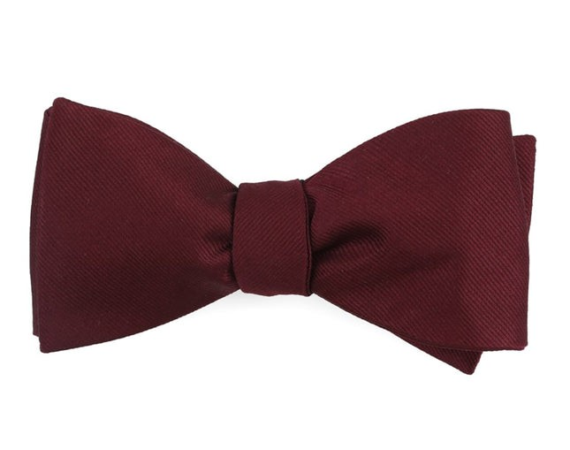 Grosgrain Solid Wine Bow Tie