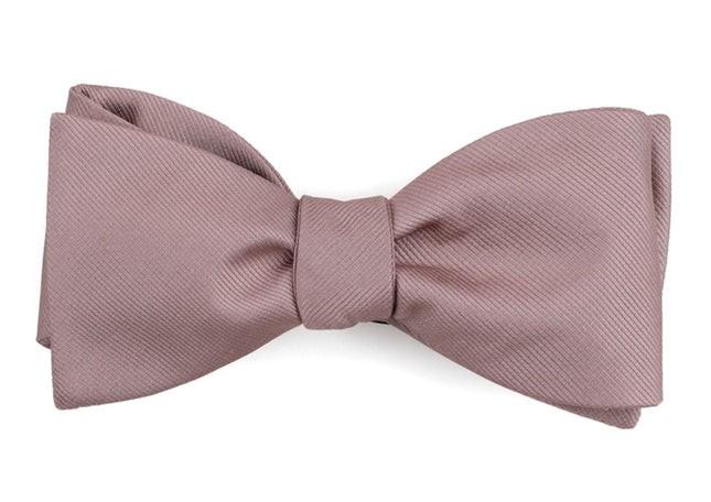 Grosgrain Solid Mauve Stone Bow Tie