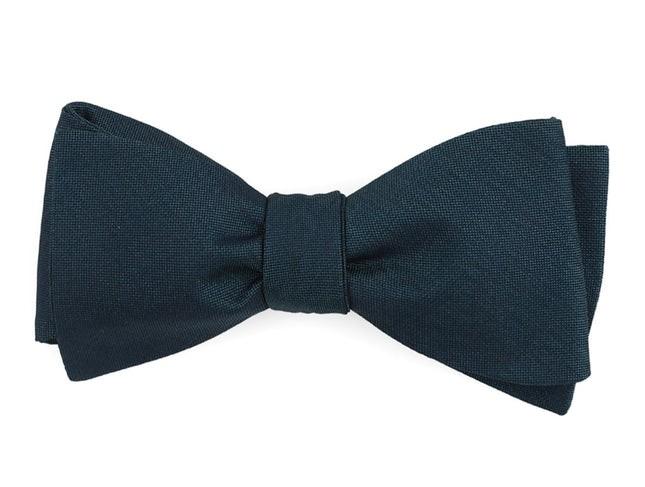 Refinado Floral Teal Bow Tie
