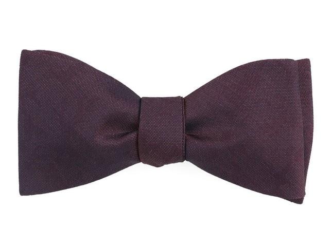 Refinado Floral Wine Bow Tie