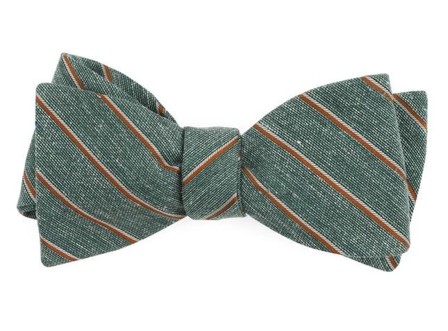 Pike Stripe Hunter Green Bow Tie