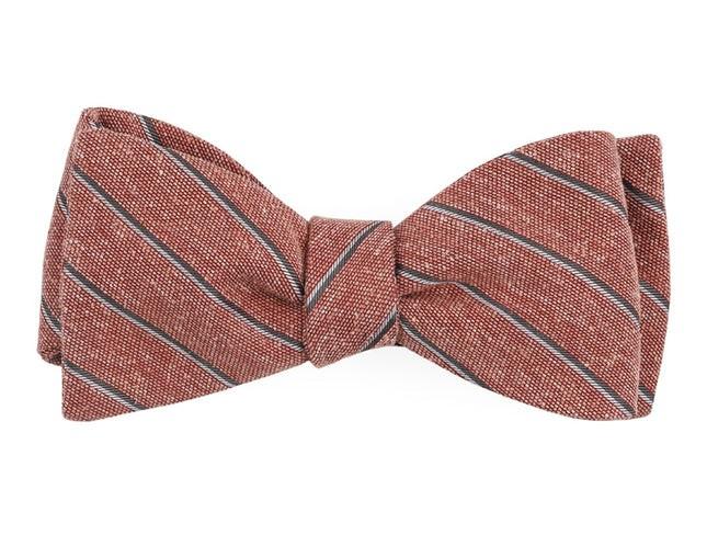 Pike Stripe Orange Bow Tie