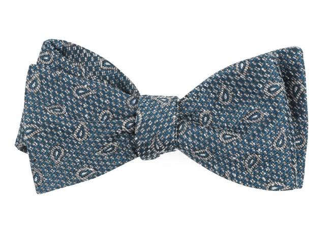 Pine Lake Paisley Teal Bow Tie