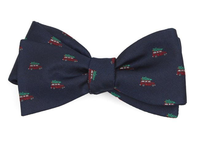 Christmas Vacation Navy Bow Tie