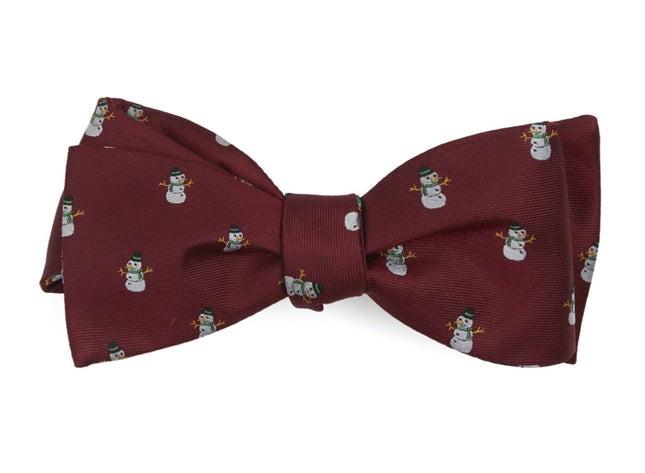 Snowman Goals Red Bow Tie