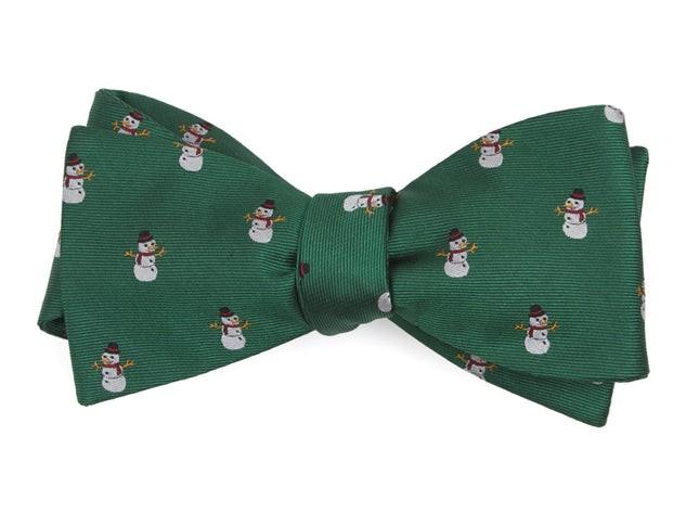 Snowman Goals Kelly Green Bow Tie