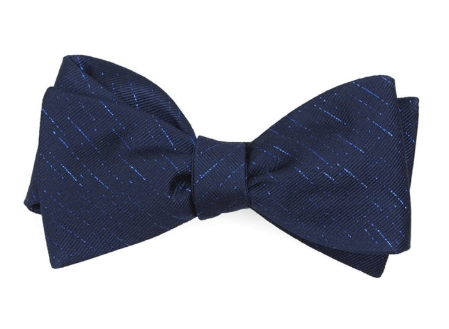 Solid Trace Navy Bow Tie