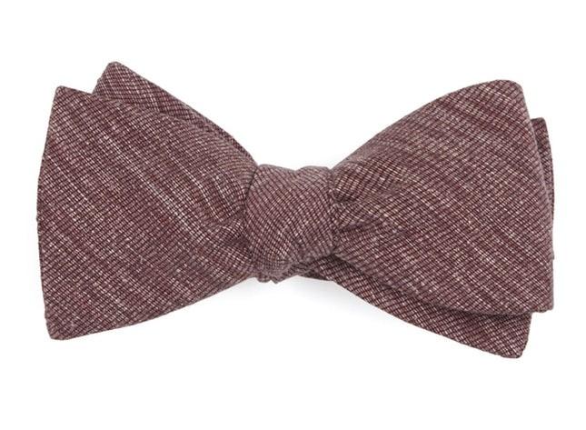 West Ridge Solid Burgundy Bow Tie