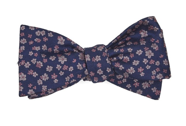 Free Fall Floral Purple Bow Tie