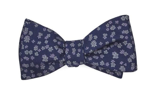 Free Fall Floral Lavender Bow Tie