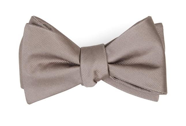 Grosgrain Solid Sandstone Bow Tie