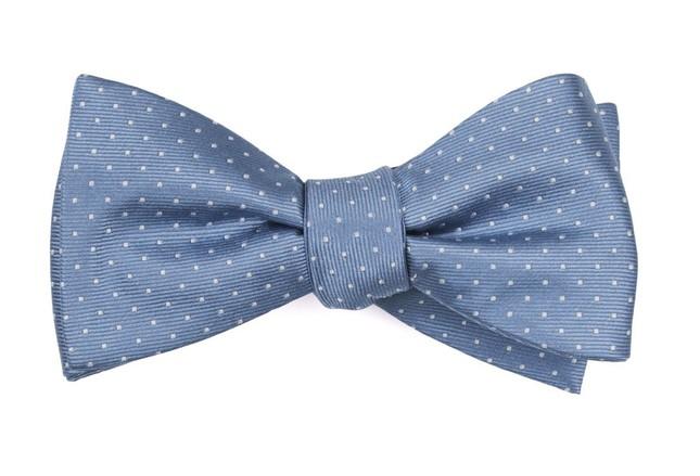 Mini Dots Slate Blue Bow Tie