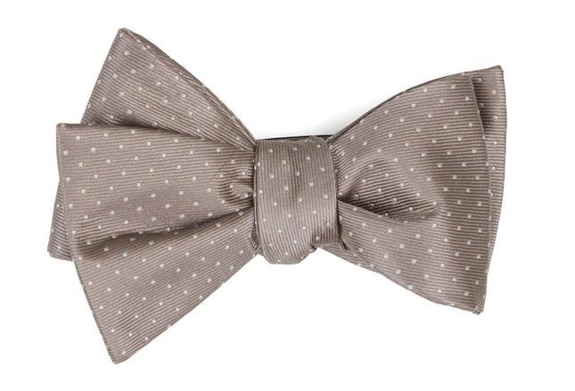 Mini Dots Sandstone Bow Tie