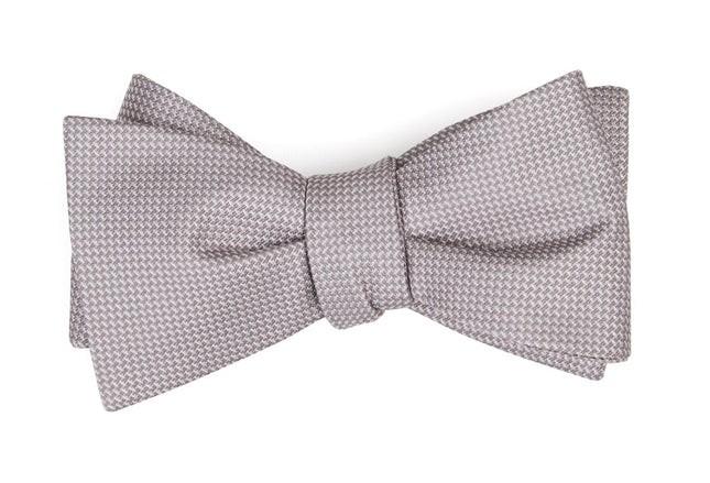 Union Solid Mauve Stone Bow Tie