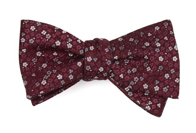 Flower Fields Burgundy Bow Tie