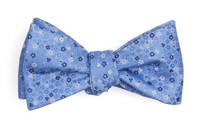 Flower Fields Light Blue Bow Tie