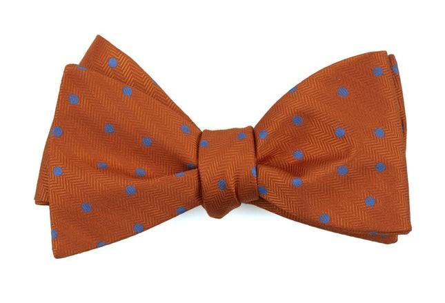 Jackson Dots Orange Bow Tie