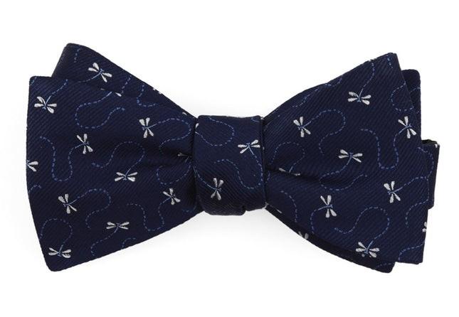 Dragonflies Navy Bow Tie