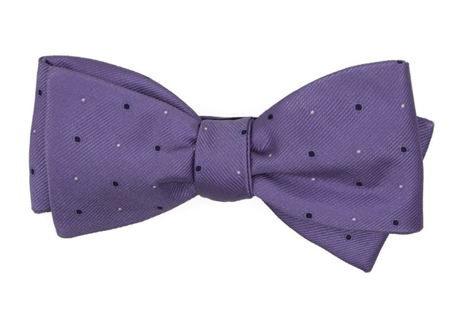 Delisa Dots Lavender Bow Tie