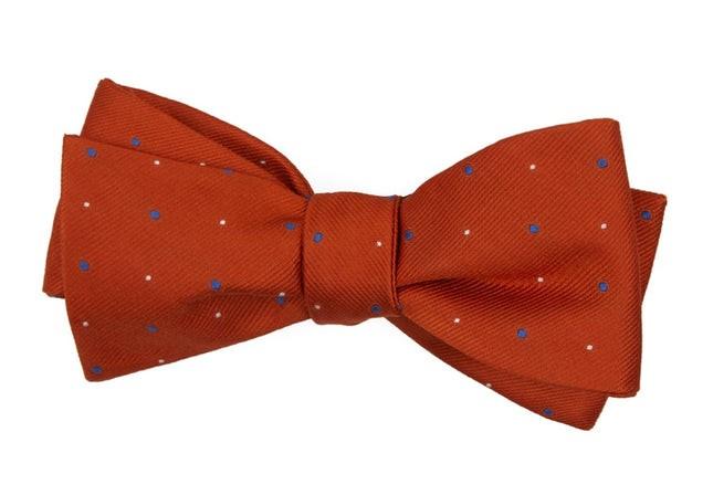 Delisa Dots Orange Bow Tie