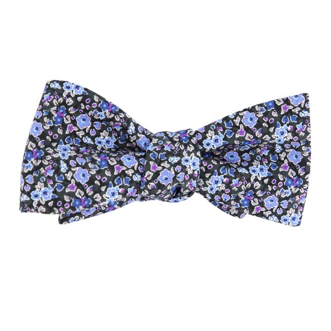 Freesia Floral Charcoal Bow Tie