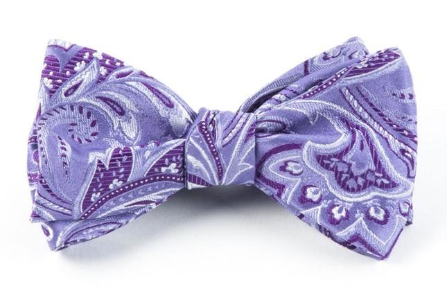 Organic Paisley Lavender Bow Tie