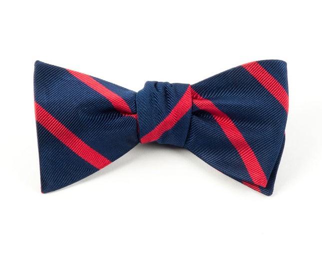 Trad Stripe Classic Navy Bow Tie