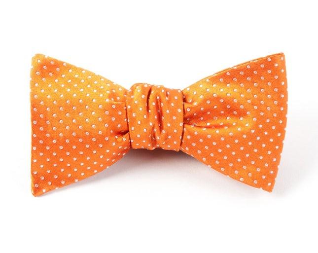 Pindot Tangerine Bow Tie