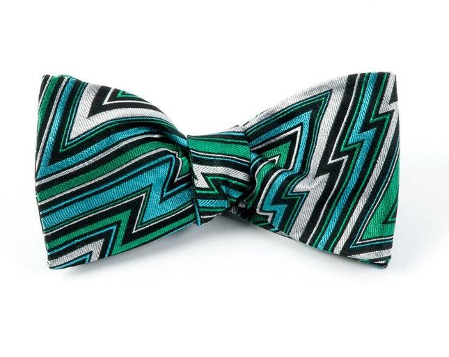 Technicolor Chevron By Dwyane Wade Emerald Bow Tie
