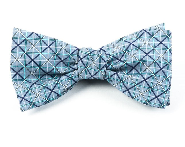 Chicago By Hancock Grid By Dwyane Wade Light Silver Bow Tie