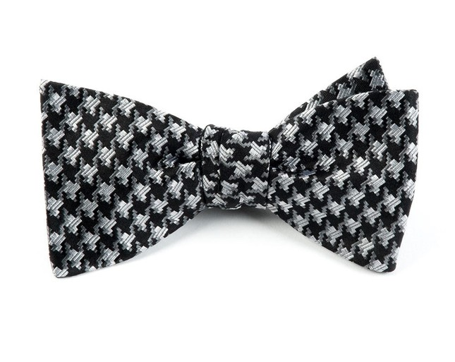 Holiday Houndstooth By Dwyane Wade Black Bow Tie