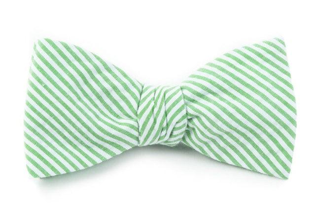 Seersucker Key Lime Bow Tie