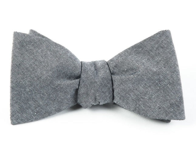 Classic Chambray Soft Grey Bow Tie