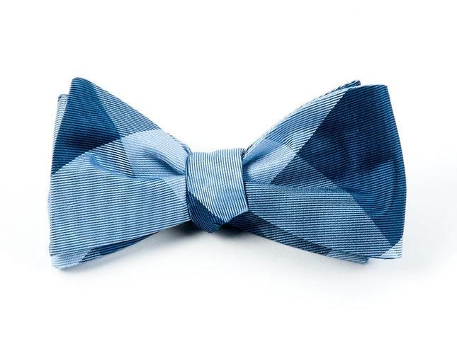 Bison Plaid Blues Bow Tie