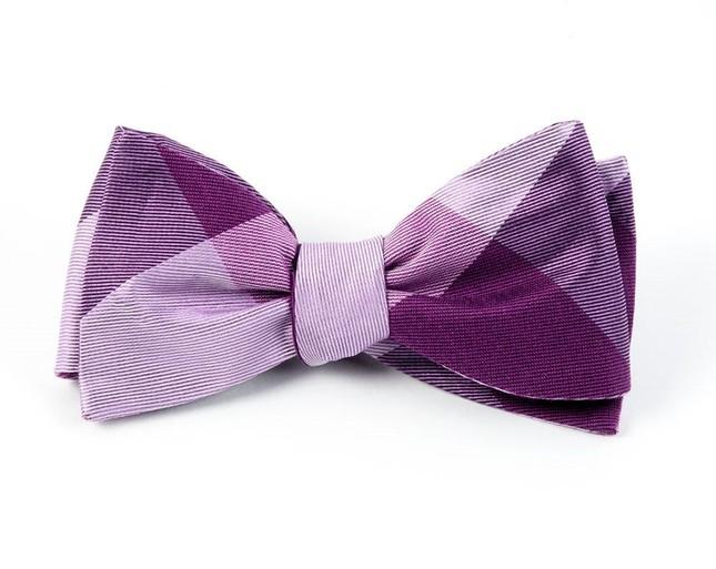 Bison Plaid Azalea Bow Tie