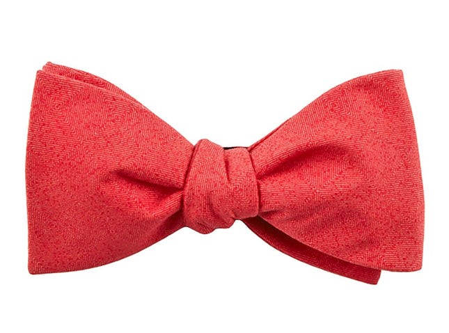 Solid Patrol Persimmon Red Bow Tie