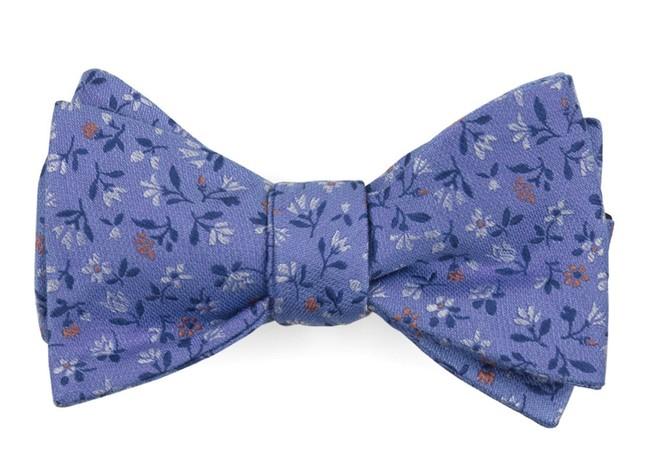Floral Acres Light Blue Bow Tie