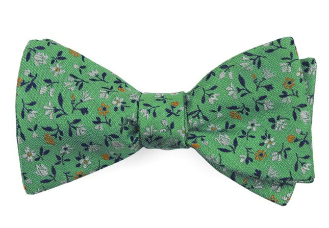 Floral Acres Mint Bow Tie
