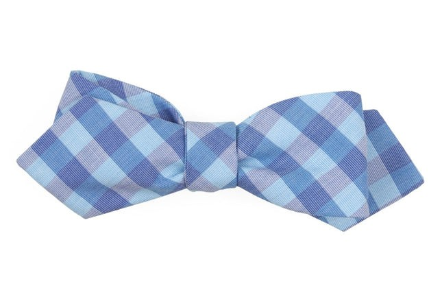 Old City Checks Teal Bow Tie
