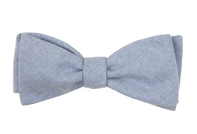 Foundry Solid Light Blue Bow Tie