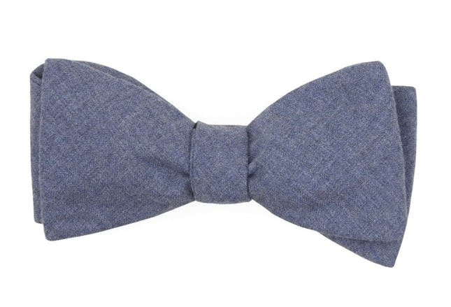 Foundry Solid Warm Blue Bow Tie