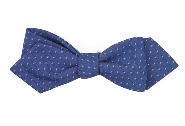 District Dots Navy Bow Tie