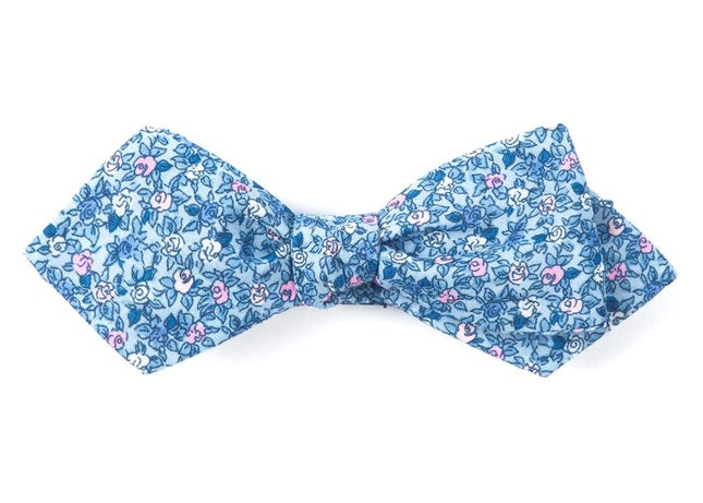 Floral Buzz Sky Blue Bow Tie
