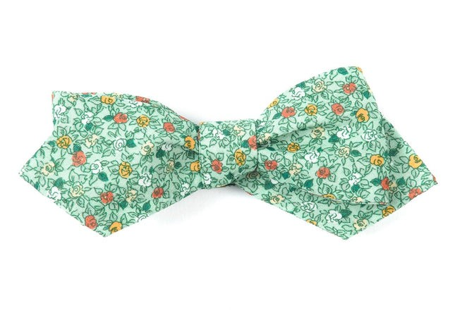Floral Buzz Moss Green Bow Tie