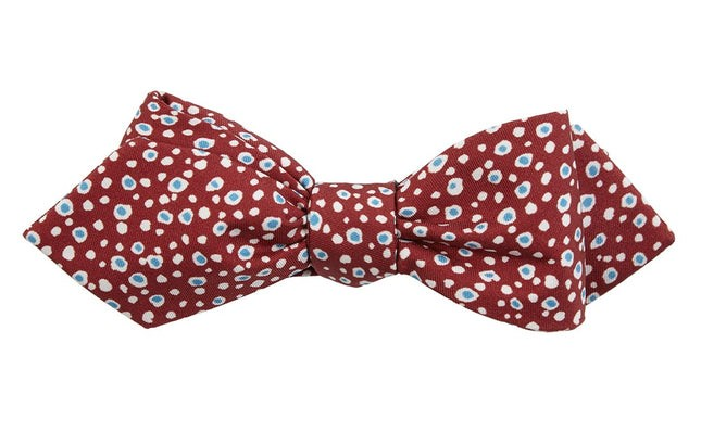 Cell Dots Burnt Burgundy Bow Tie