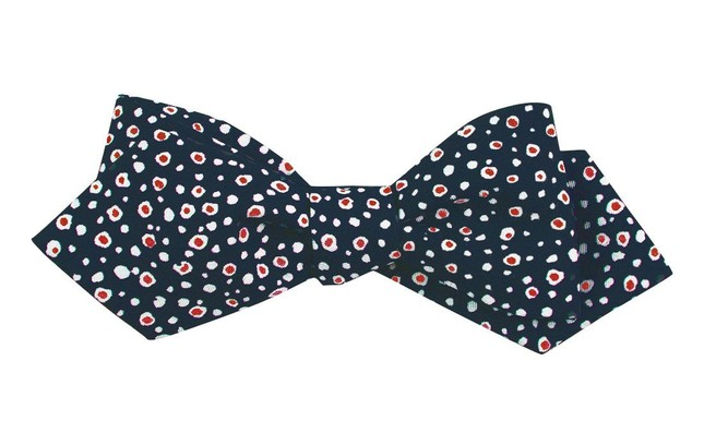 Cell Dots Navy Bow Tie